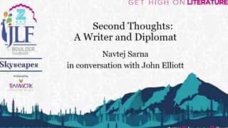 Zee JLF Boulder 2017 event: Second Thoughts - A Writer and Diplomat