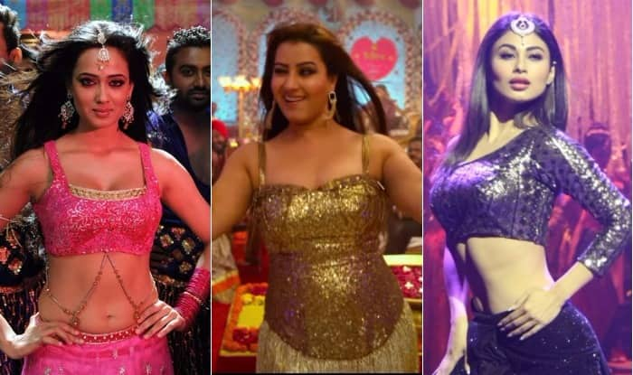 shilpa shinde to mouni roy 7 sexy tv actresses who have done hot bollywood u0026 bhojpuri item songs