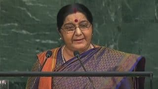 'India is Fighting Poverty, But Pakistan is Fighting Us', Says Sushma Swaraj at UN General Assembly