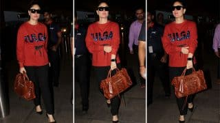 Kareena Kapoor Khan Leaves For The Veere Di Wedding Shoot But Where Is Taimur?(View Pics)