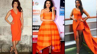Navratri 2017 Day 4 Colour Orange: Priyanka Chopra, Parineeti Chopra And Sonakshi Sinha Look Bright And Beautiful In Tangerine