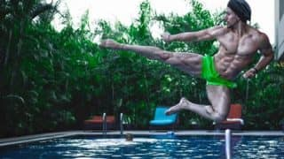 Tiger Shroff Flaunts his Chiseled Abs in New Picture from Baaghi 2 Sets: Actor Looks Incredible Performing Mid-air Kick