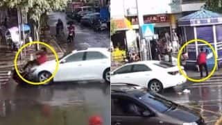 Scooter Rider Gets Hit by Car, Makes Perfect Landing on Feet Like a Boss in This Viral Video