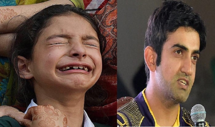 Gautam Gambhir to bear education expenses of Kashmiri martyr's daughter Zohra