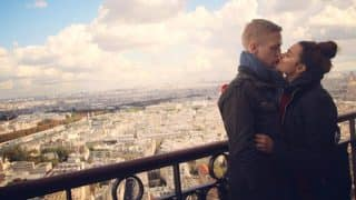 Aashka Goradia And Brent Goble Share A Romantic Kiss At The Eiffel Tower - View Pic