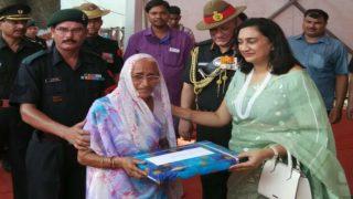 Army Chief General Bipin Rawat Touches Feet of 1965 War Hero Abdul Hamid's Widow