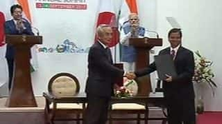India, Japan Sign 15 Bilateral Agreements; Bullet Train The Lifeline of New India, Says PM Modi in Joint Statement With Shinzo Abe