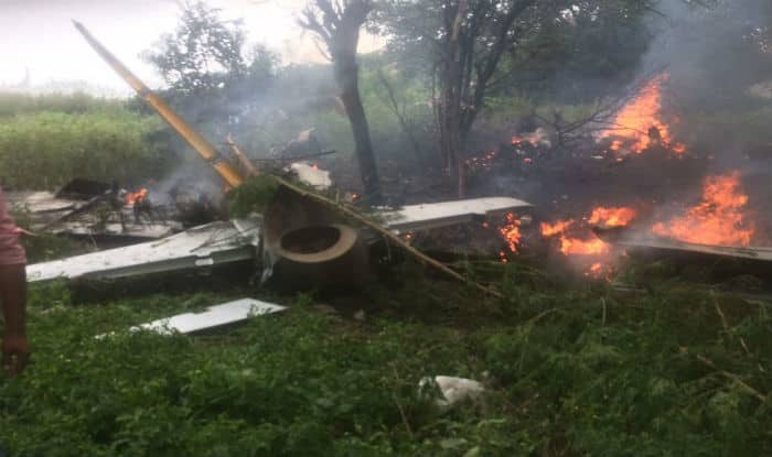 IAF trainer aircraft crashes at Keesara, pilot safe