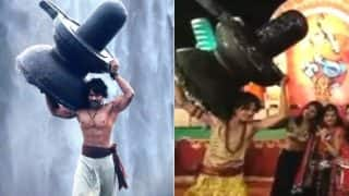 Garba Fan Carries Shivling to Navratri Dancing Festival: Pictures of Baahubali Inspired Man with Lingam Goes Viral
