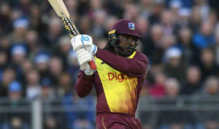 क्रिस गेल टी20 इंटरनेशनल क्रिकेट में 100 छक्के मारने वाले दुनिया के पहले बल्लेबाज बने (Getty)