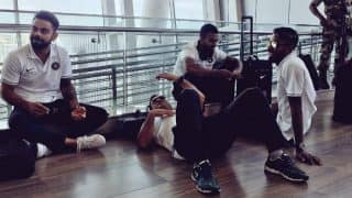 India vs Australia 2017: MS Dhoni Takes Power Nap on Chennai Airport Floor, Photo Goes Viral