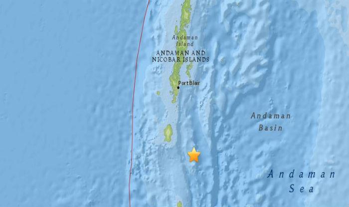 Tremors were felt at 12.10 am. (USGS)