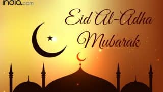 Eid Mubarak Wishes in Urdu & Hindi: Best Bakrid WhatsApp Gif Images, SMSes, Shayris & eCards to Send Happy Eid al-Adha 2017 Greetings