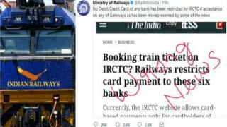 irctc tatkal ticket booking master and visa cards not barred for payment while booking