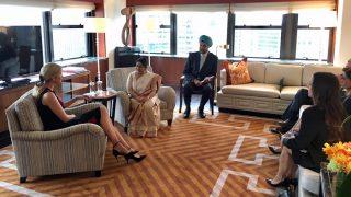 Ivanka Meets Sushma at UNGA Session, Discusses Women Entrepreneurship