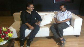 Actor Kamal Haasan Meets AAP Chief Arvind Kejriwal, Twitter Eyes His Entry Into Politics
