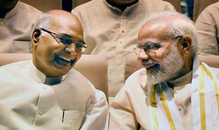 Image result for PM Narendra Modi wishes President Kovind on his 72nd birthday