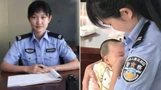 Chinese Policewoman Breastfeeding Suspect's Baby Wins The Internet's Love (See Pictures)