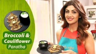 Shilpa Shetty Kundra's Healthy Breakfast Recipe: How to Make Delicious Broccoli and Cauliflower Paratha (Watch Video)