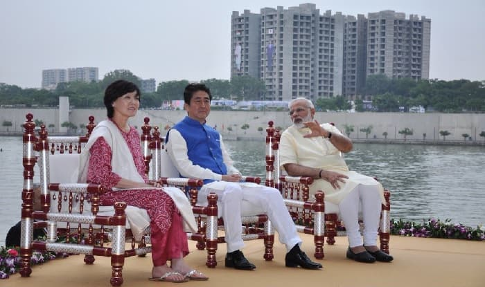 Prime Minister Narendra Modi with his Japanese counterpart Shinzo Abe