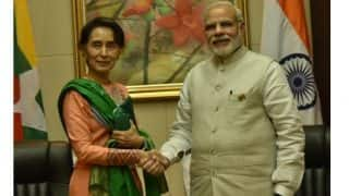 PM Narendra Modi to Hold Talks with Aung San Suu Kyi; Rohingya Immigrants Issue High on Agenda