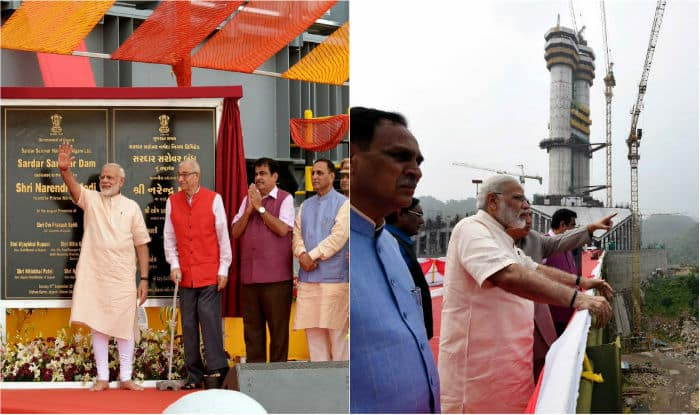 PM Modi's today's address marked the end of the fortnight-long Narmada Mahotsav, launched by the Gujarat government to celebrate the completion of the dam. (Image: PIB)