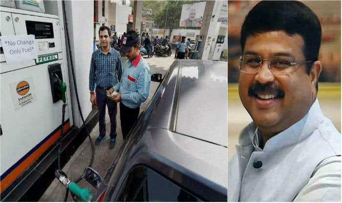 Petroleum Minister Dhanrmendra Pradhan also said that the decision on reducing the cess on petroleum products rests with the finance ministry. (Image: PTI)