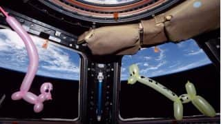 Astronaut Makes Balloon Animals to Answer Kids Who Ask 'Are There Pets in Space?' (See Picture)