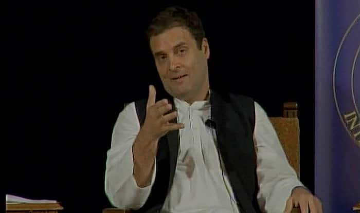 Rahul Gandhi blamed blamed the Modi-government of playing divisive governance in the country. (ANI image)