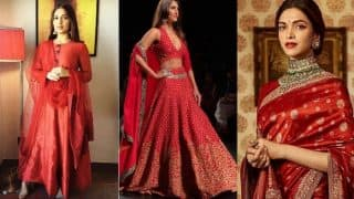Navratri 2017 Day 6 Color Red: Top 5 Ways to Wear Ravishing Red Festive Outfits