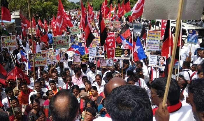 Demonstrations against NEET held in Tamil Nadu's Coimbatore, Tirupur