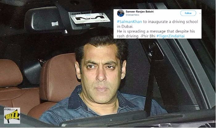 Salman Khan inaugurates driving school in Dubai. Obviously, Twitter's got jokes
