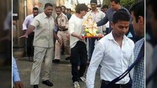 Ganesh Visarjan: Shah Rukh Khan And Famiy Bid Adieu To Bappa - View Pics