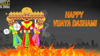 Vijayadashami 2017 Wishes: Happy Dussehra WhatsApp GIF Images, SMS Messages & Facebook Quotes to Send Vijayadashami Greetings