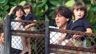 Shah Rukh Khan Gets AbRam To Greet The Superstar's Fans On Eid al-Adha - View Pics