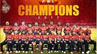CPL 2017: Shah Rukh Khan's Trinbago Knight Riders Win Second title, Beat St Kitts and Nevis Patriots by 3 Wickets