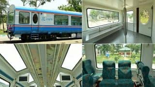 Glass-roof Vistadome Coach on Dadar-Madgaon Jan Shatabdi Comes With Rotatable Chairs: See Pictures