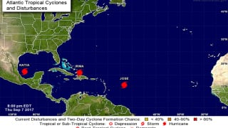 Three Hurricanes Irma, Jose, Katia, in Atlantic Region Together For The First Time Since 2010