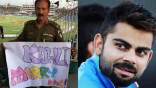 pakistan cops request to virat kohli marry me   पाकिस्तान से आया कोहली के लिए रिश्ता, पोस्टर पर पुलिसवाले ने लिखा 'विराट मैरी मी'