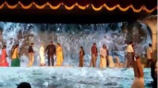 Couple Stand on Water for Marriage Reception? LED Wall Decoration Brings Waterfall to Life in This Wedding Video