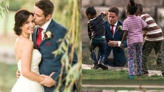 Dressed-Up Groom Jumps Into Water To Save Child's Life During Wedding Photoshoot