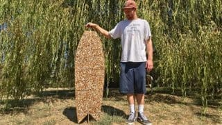 California Man Wins Recycling Contest By Creating A 10,000 Cigarette Butt Surfboard Out Of Waste