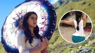 Sara Ali Khan Looks Hot As Ever As She Sweats Out Like There's No Tomorrow! (Watch Video)