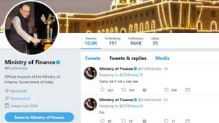 Finance Ministry Sends Out Gibberish Tweets From Official Handle, Twitterati Have a Field Day