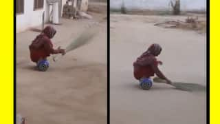 Video of Pakistani Aunty Sweeping the Floor Riding a Hoverboard Gives India a Cleanliness Tip for Swachh Bharat Abhiyan