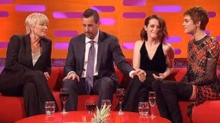 Adam Sandler Slammed On Social Media For Touching Claire Foy's Knees But Actress 'Not Offended' (Video)