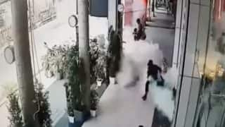 Cylinder Turns into 'Rocket' After Blast in Bhopal's Watch Showroom (See Viral Video)