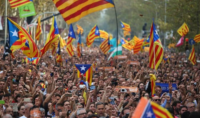 spain independence catalan parliament declares independence from spain indiacom