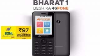 BSNL, Micromax Launch Bharat-1 4G Feature Phone at Rs 2,200; the Reliance Jio Competitor to Hit Market on October 20