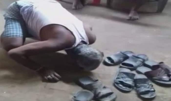Barber forced to lick saliva, beaten with slippers by women in India